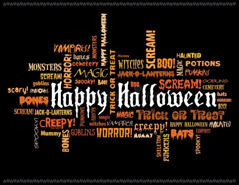 Download Happy halloween stock illustration. Illustration of orange - 4233876