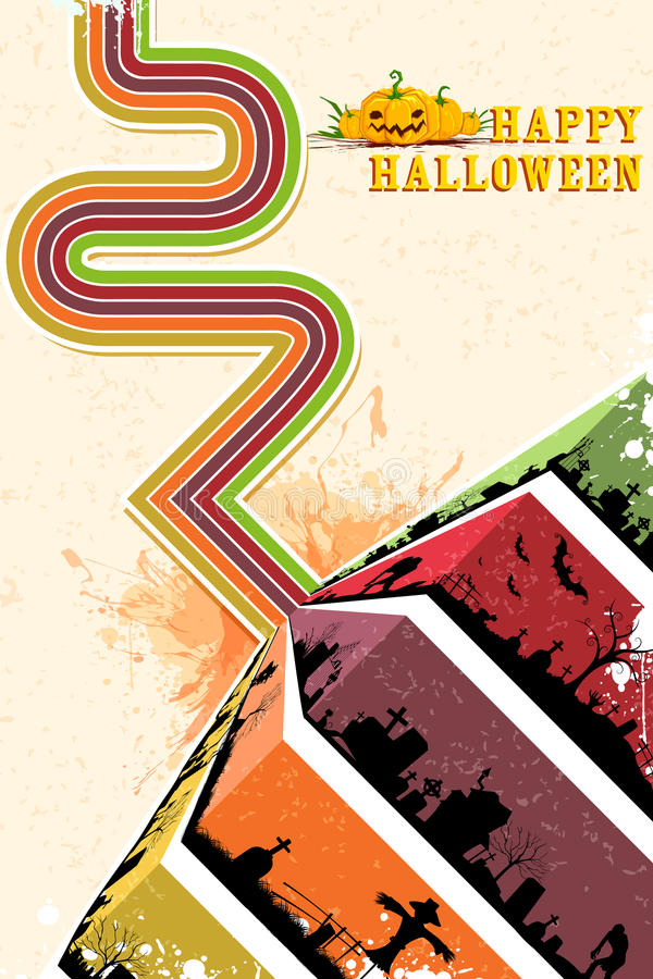 Download Happy Halloween Backgroun stock vector. Image of graveyard - 34324139