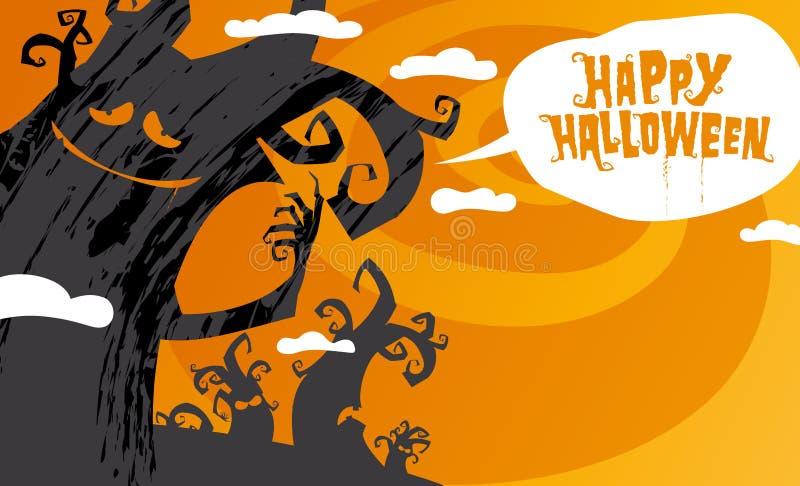 Happy halloween background. vector illustration