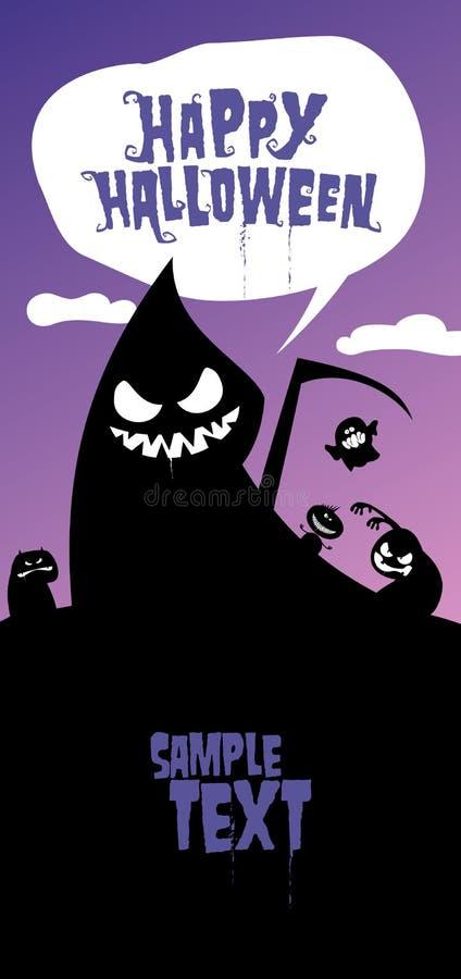 Happy halloween background. stock illustration