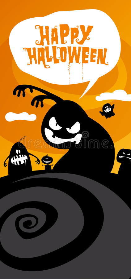 Happy halloween background. royalty free illustration