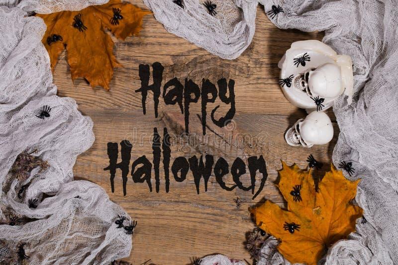 Happy Halloween.Background. Happy Halloween. Halloween background. Overhead perspective royalty free stock image