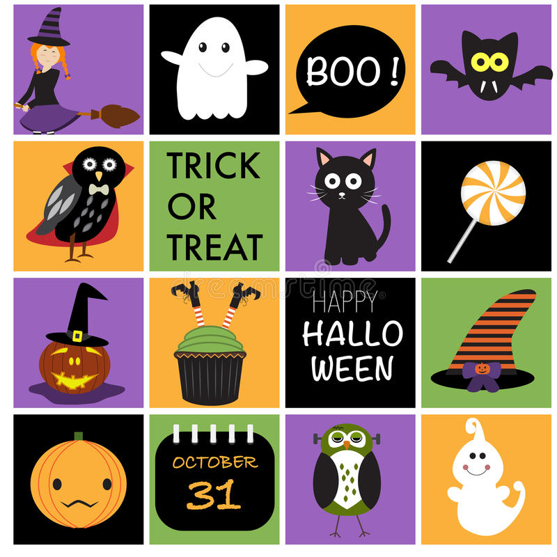 Download Happy Halloween Background With Owls , Witch Legs, Pumpkins Lan  Stock Vector   Illustration