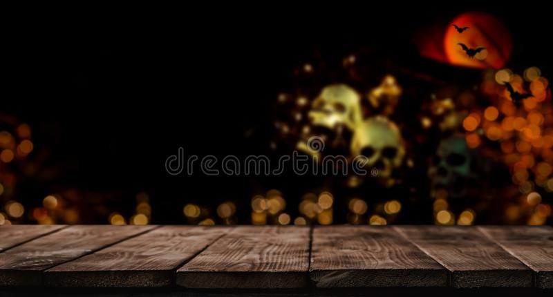 Happy Halloween background. Trick or treat in autumn season. Scary and dark symbol at night stock photos