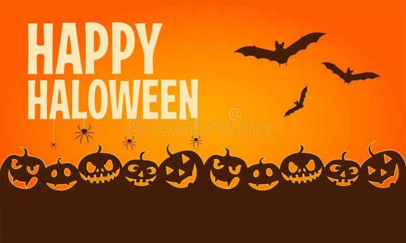 Happy halloween banners. Flat designed elements. Vector Illustration. royalty free illustration