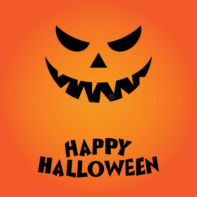 Happy halloween Pumkin illustration on orange background royalty free illustration