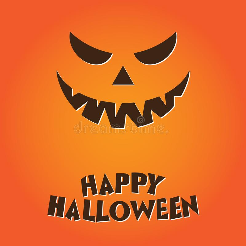 Happy halloween Pumkin illustration on orange background vector illustration