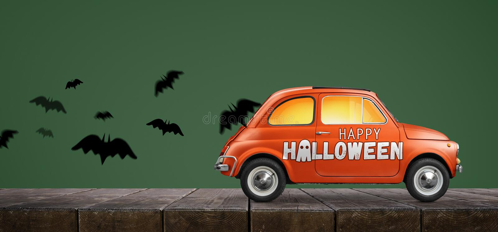 Happy Halloween car royalty free stock images
