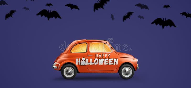 Happy Halloween car stock images