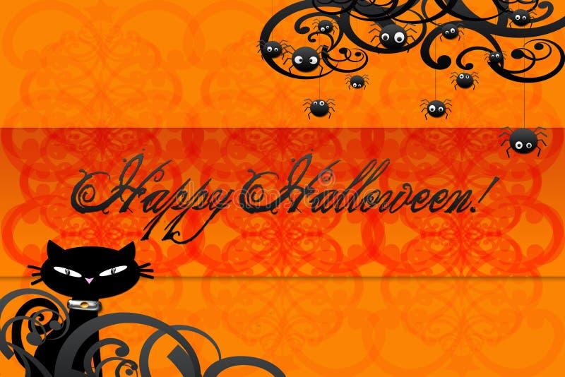 Happy halloween card vector illustration