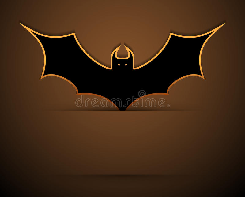 Happy halloween card with bat. royalty free stock image
