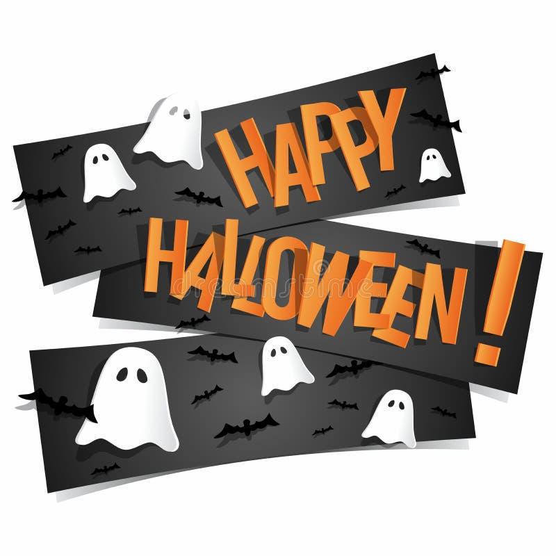 Happy Halloween Card stock illustration