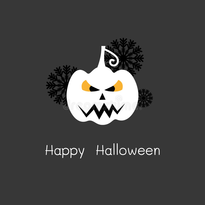 Happy Halloween Card with white pumpkin royalty free stock photos