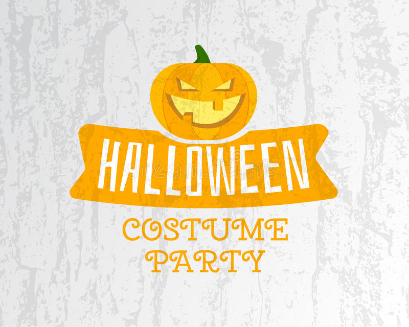 Happy Halloween costume party flyer template - stock illustration