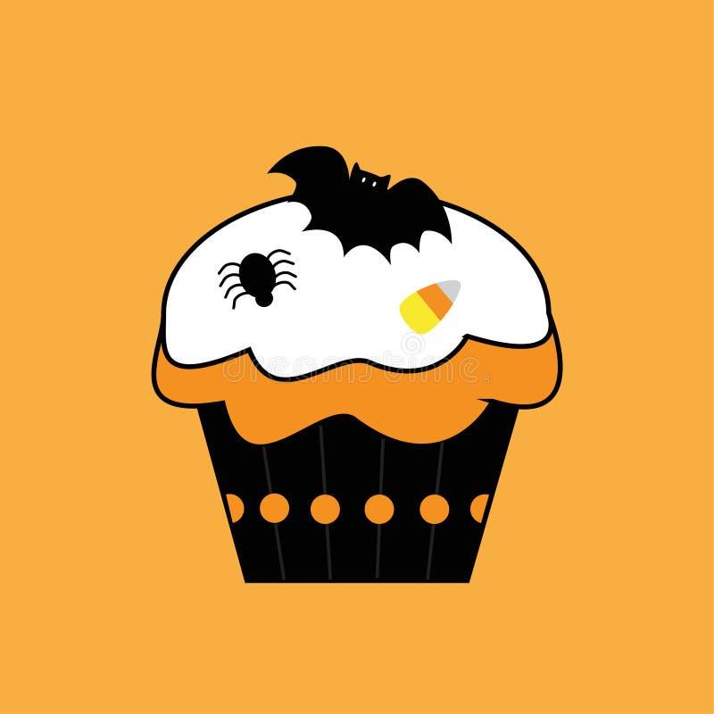 Download Happy Halloween Cupcake stock vector. Image of orange - 21631083