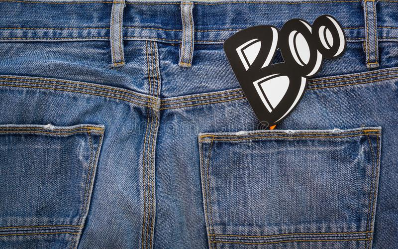 Happy Halloween day. Fashion background concept. Top View of Boo royalty free stock photography