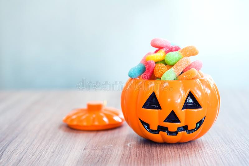 Happy Halloween day. Sweet candy for kid. And party royalty free stock images