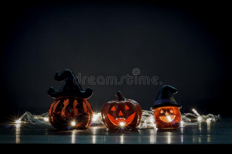 Happy Halloween decorations festival concept. stock image