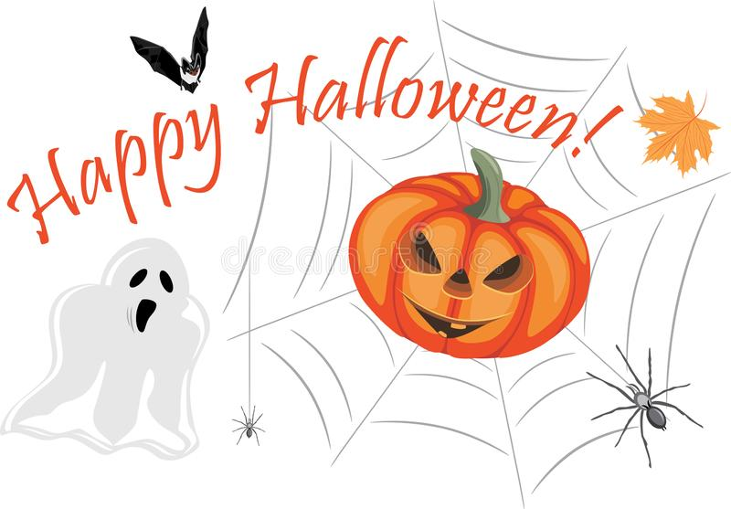 Happy Halloween. Design for greeting card stock photos