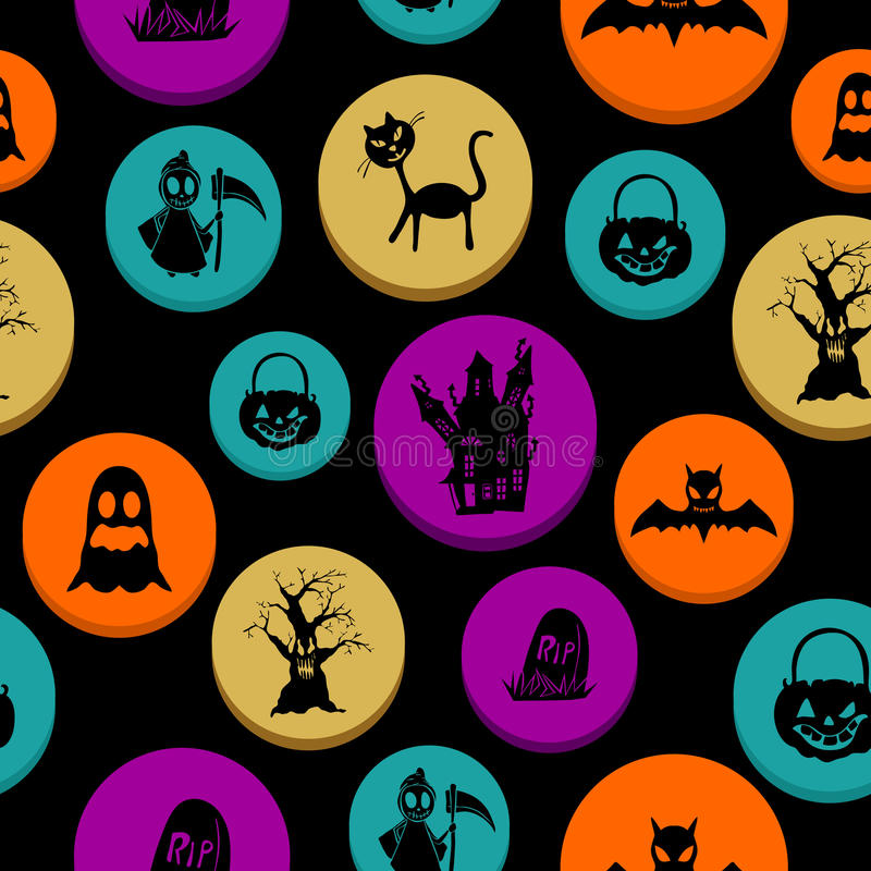 Happy Halloween elements seamless pattern background EPS10 file. royalty free stock photo