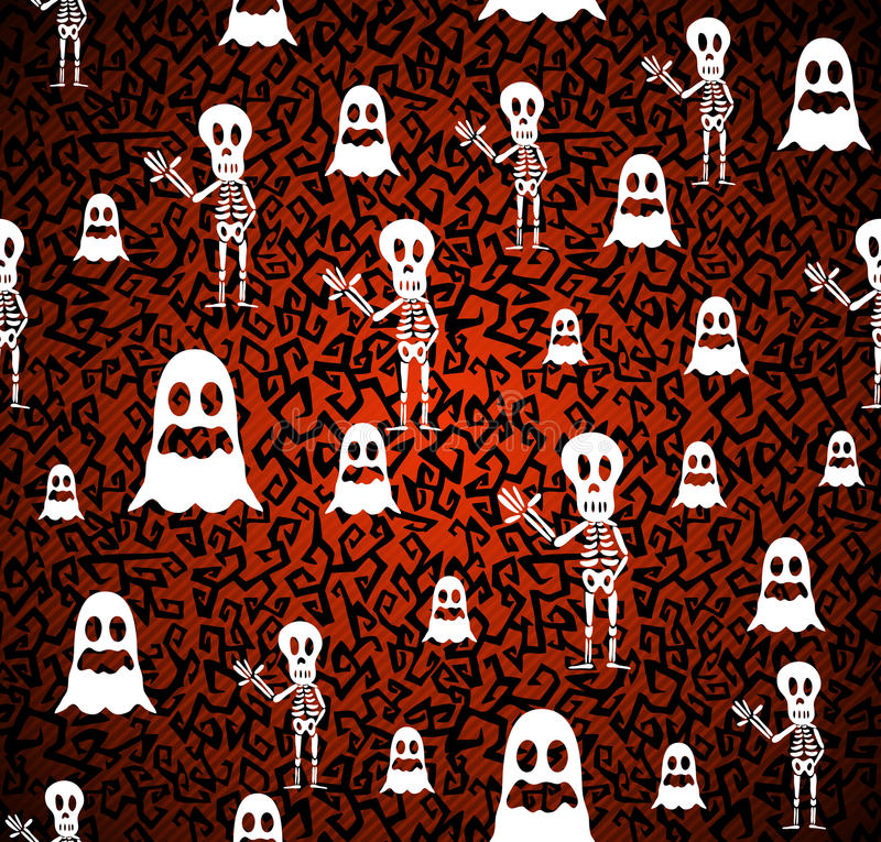 Happy Halloween elements seamless pattern background EPS10 file. stock illustration
