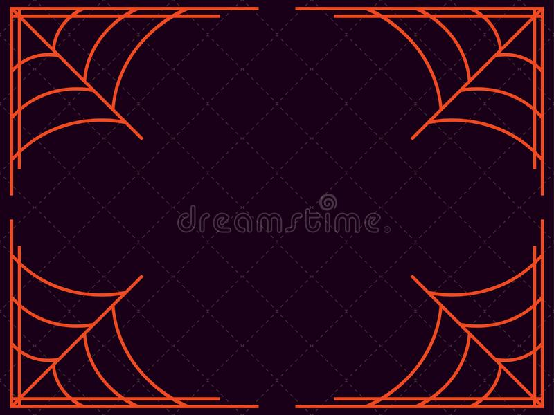 Happy Halloween. Frame with cobwebs. Holiday background. Vector stock illustration