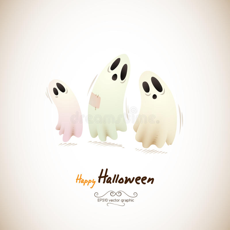 Happy Halloween Ghosts stock illustration