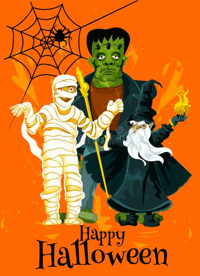 Download Happy Halloween Trick Treat Vector Greeting Card Stock Vector    Illustration Of Illustration, Scary