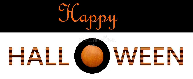 Happy halloween greeting graphic design royalty free illustration