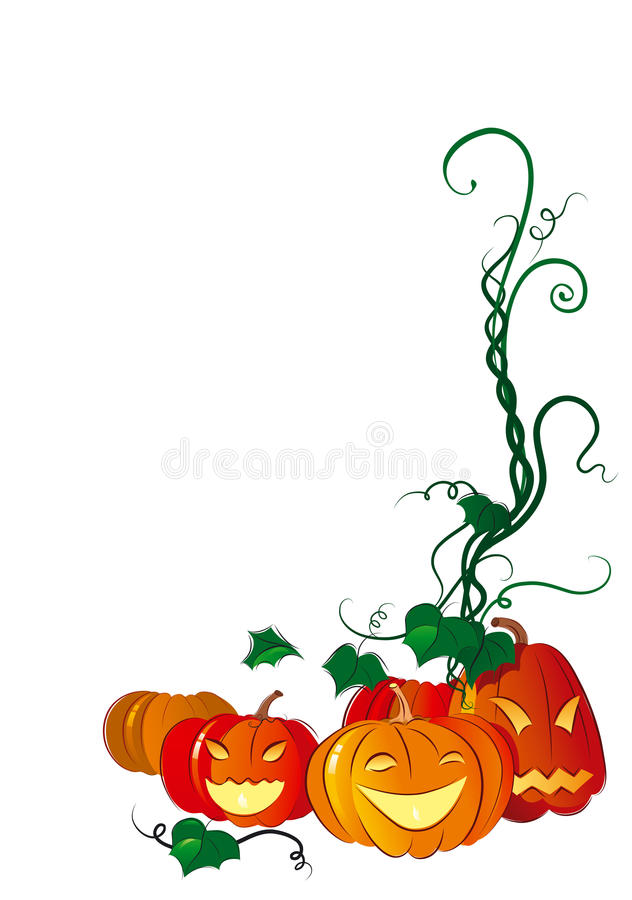 Download Happy Halloween stock vector. Image of ornate, frame - 33631527