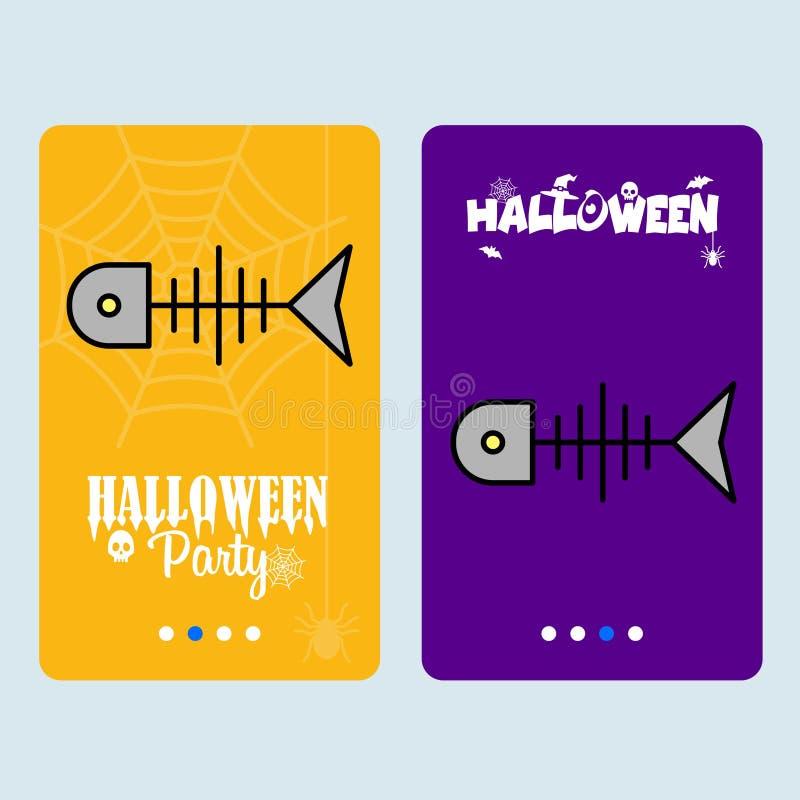 Happy Halloween Vector Invitation Card With Skull Character