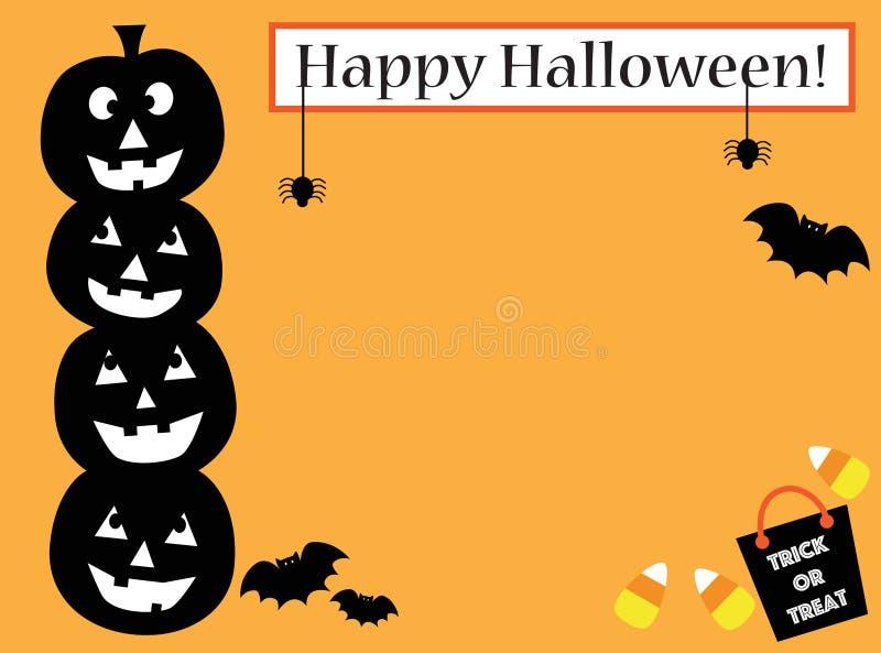 Happy Halloween Invite vector illustration