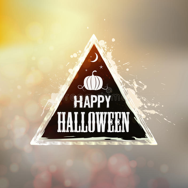 Happy Halloween Label royalty free illustration