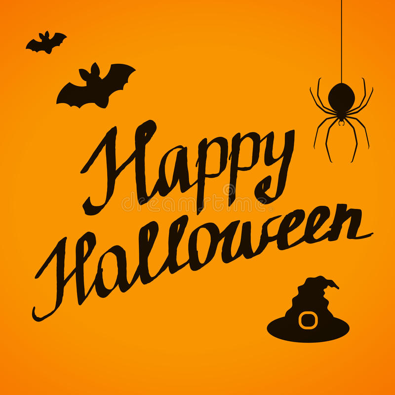 Happy halloween lettering banner desig stock vector illustration download happy halloween lettering banner desig stock vector illustration of message design 78137750 m4hsunfo
