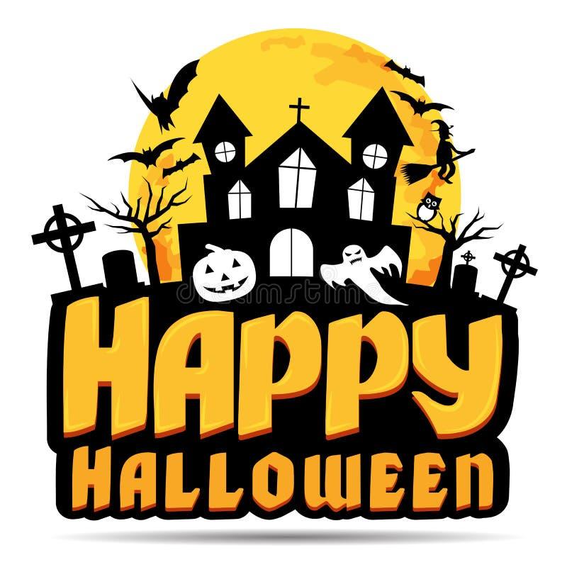 Happy Halloween logo. stock illustration. Illustration of ...