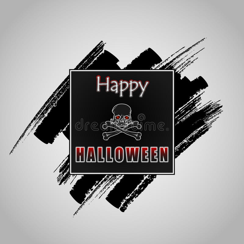 Download Happy Halloween Message On Grunge, Brush Texture Stock Vector    Illustration: 59837319