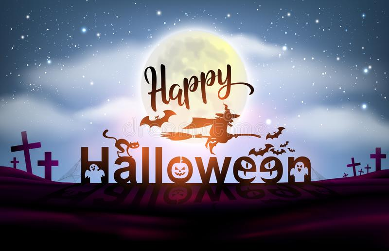 Amazing Download Happy Halloween Night Background Full Moon. Stock Vector    Illustration Of Clouds, Full