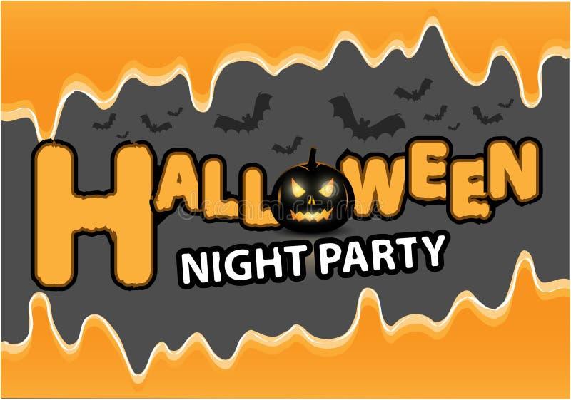 Download Happy Halloween Night Party Black Pumpkin Bat Orange Liquid On  Gray Design Holiday Festival Background