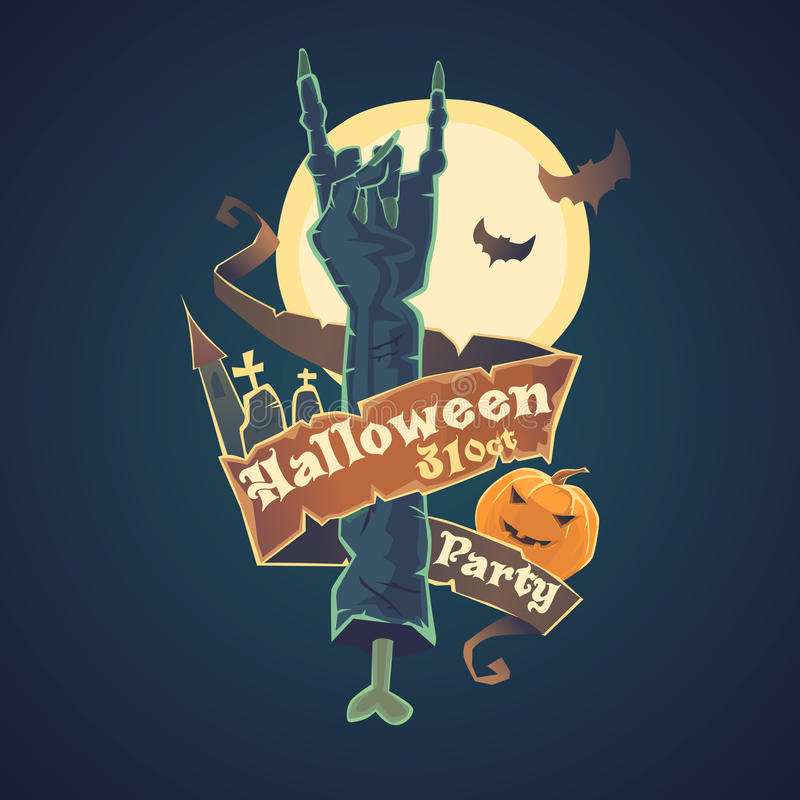 Great Download Happy Halloween. Night Party And Disco. Stock Vector    Illustration Of Fear,