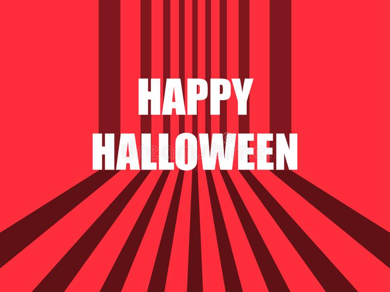 Happy Halloween October 31st. Horror retro background with stripes. Vector royalty free illustration