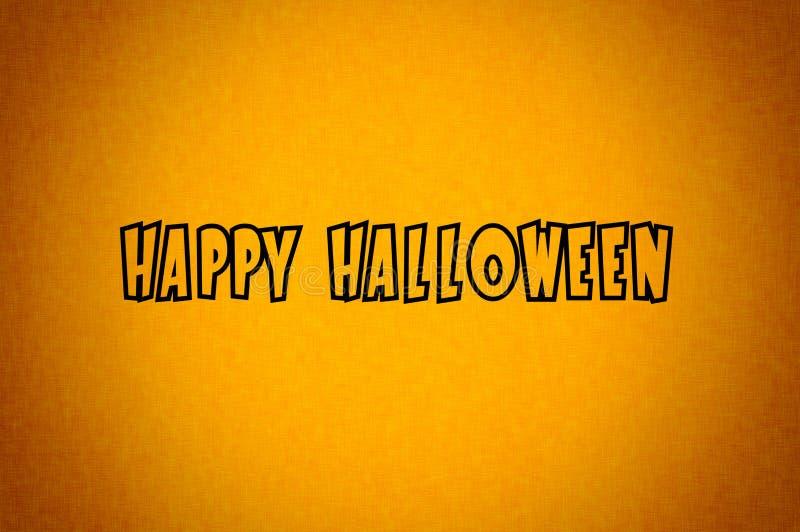 Happy Halloween orange black background. Gradient texture. Texted orange background royalty free stock image