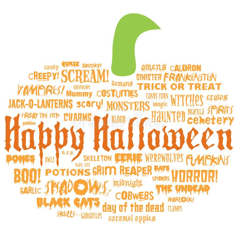 Download Happy Halloween And Other Scary Words Stock Vector - Image: 10642322