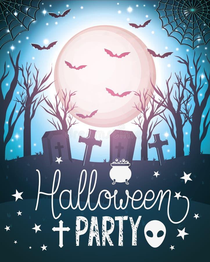 Happy Halloween-partijontwerp, vectorillustratie royalty-vrije illustratie