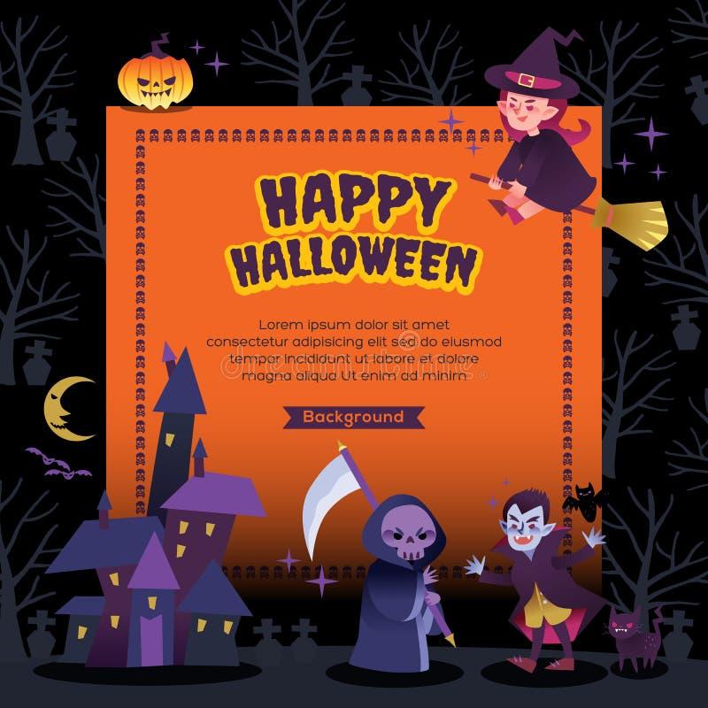 Happy halloween party background illustration vector illustration