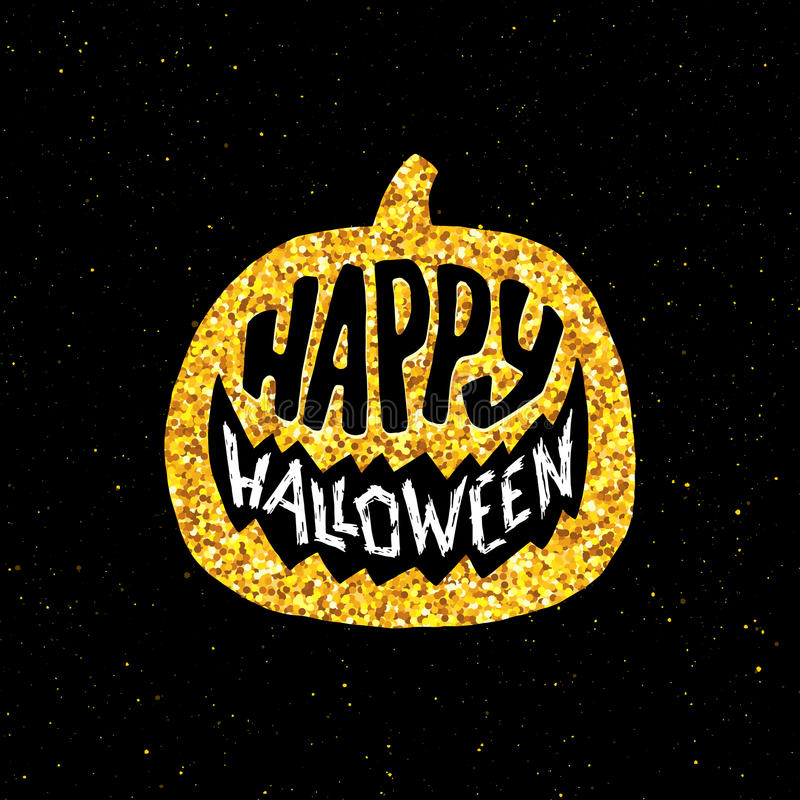 Download Happy Halloween Party Banner With Gold Typography Stock Vector    Illustration Of Background, Night