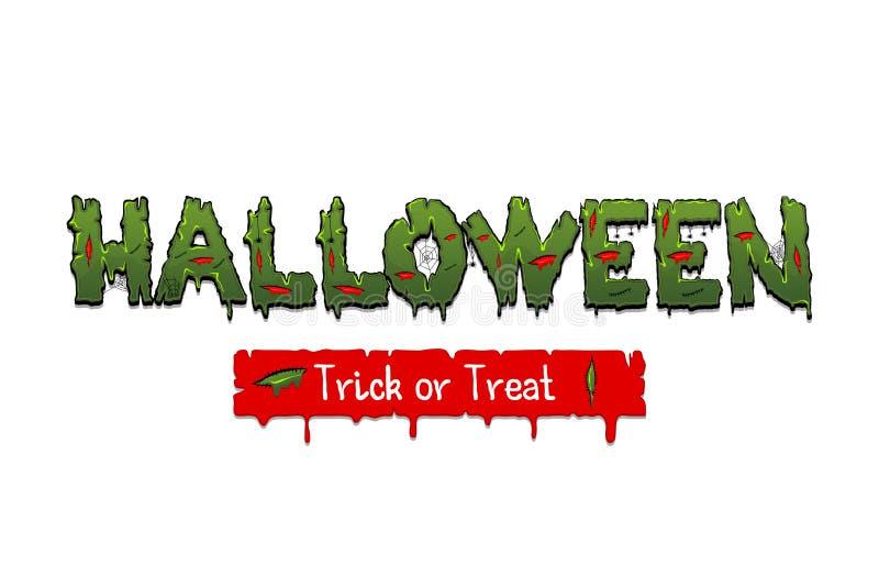 Happy Halloween party comic text font pop art stock illustration