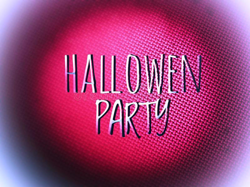 Happy halloween party invitation word in blurry colourfull background. Happy halloween party word in blurry defocus dotted colourfull background royalty free stock image