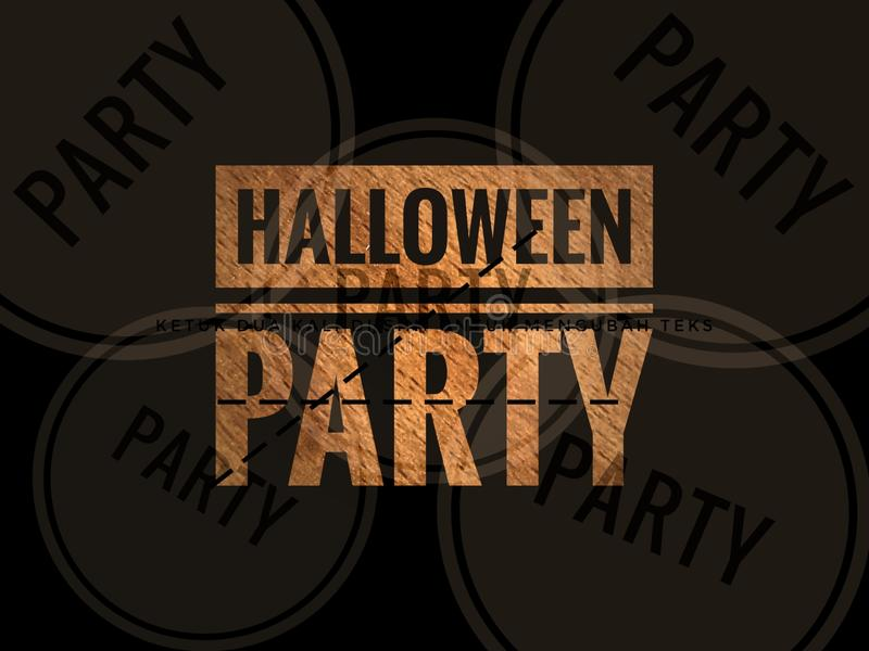 Happy halloween party invitation word in blurry colourfull background. Happy halloween party word in blurry defocus dotted colourfull background stock photo