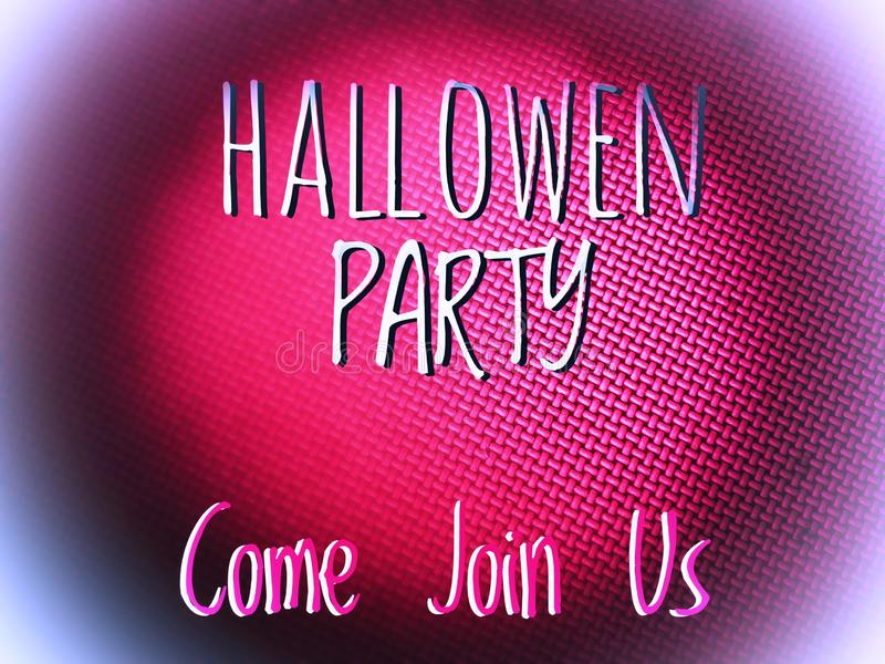 Happy halloween party invitation word in blurry colourfull background. Happy halloween party word in blurry defocus dotted colourfull background stock photos