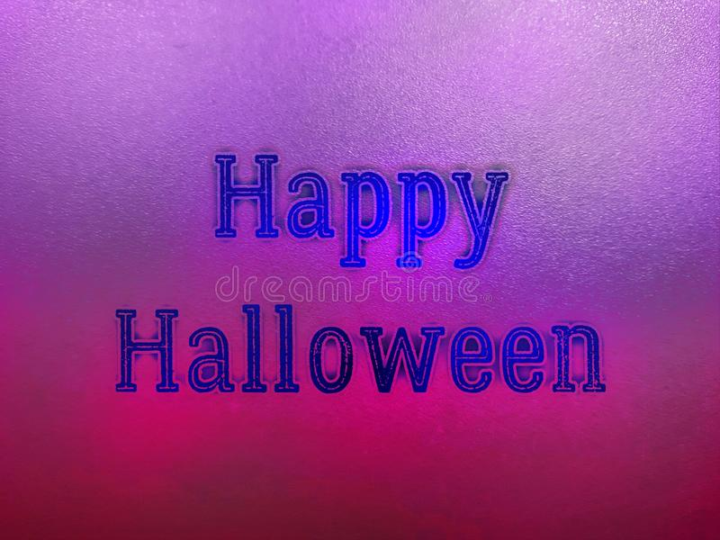 Happy halloween party word in blurry colourfull background. Happy halloween party word in blurry defocus dotted colourfull background royalty free stock photos